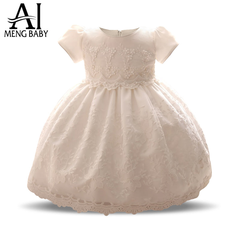 Toddler Girls White Christening Size X-Small to 4T Infant Baptism Dress