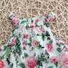 Summer Toddler Kids Infant Baby Girl Lace Floral Romper Off Shoulder Jumpsuit Sunsuit Clothes Outfit