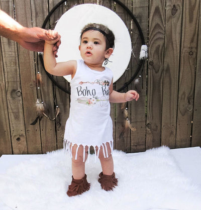 Summer Toddler Baby Kids Girls Cotton Princess Tassels Sleeveless Party Casual Vest Dress