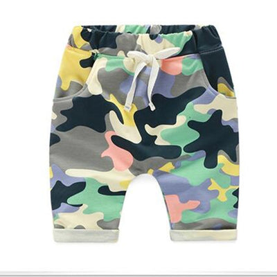 Fashion Children's pants beach Clothing Kids Boys Camouflage clothes Shorts Pants Sport Trousers