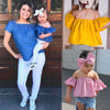 Summer Toddler Kids Baby Girl Outfits Clothes T-shirt Off Shoulder T-Shirts Headband