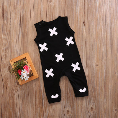 Newborn Baby Boys Kid Sleeveless Romper Jumpsuit Summer Outfits Clothes