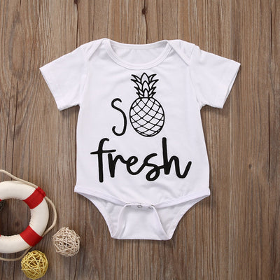 Summer Newborn Infant Baby Boys Girls Cotton pineapple Romper Jumpsuit Clothes Outfits