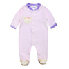 Baby Romper For 3M-9M Foot Cover Sleepwear Baby Boy Girl Full Sleeve Newborn Velour Rompers