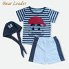 Baby Set Cute Letter Baby Boy Suit Set Hat T-Shirt Pants Summer Outfit For Toddler