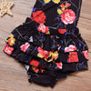 born Baby Girls Floral Ruffle Halter Romper Jumpsuit Summer Sun suit Clothing With Headband Outfits