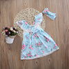 2pcs/Set !  Newborn Toddler Kids Baby Girl Lace Flower Floral Dress Princess Lace Dresses +Headband Clothing