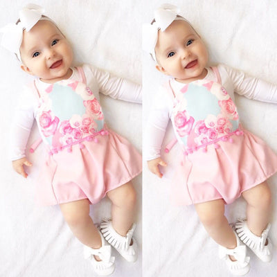 Summer Baby Kids Girls Floral Tassel ball Romper Backless Jumpsuit Sun suit Clothing