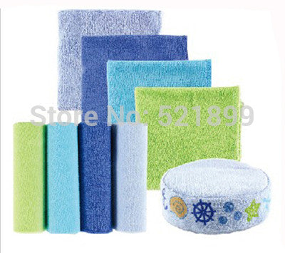 Baby Towel Sets Washcloths with Bonus Bath Sponge towel bath baby