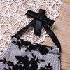 2Pcs/Set Newborn Infant Baby Boy Girl Black pattern lace Romper Jumpsuit +Headband Outfits Play-suits Clothes