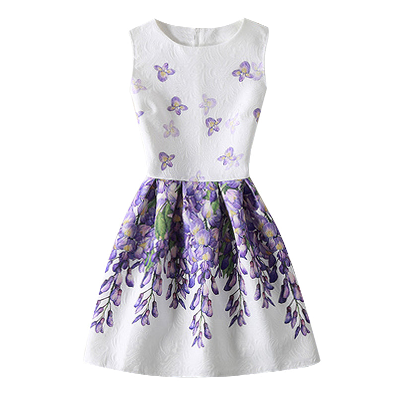 2ba5875830 Baby Girl Floral Dress Teenage Girl Party Dress Princess Dresses Girl  Clothes Children Clothing Girl