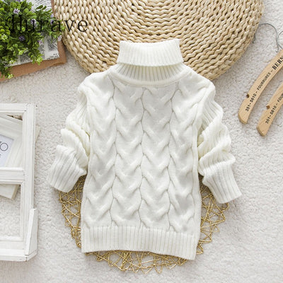 Autumn winter cute cartoon turtleneck knitted sweaters for baby infant sweater girls boys knitwear
