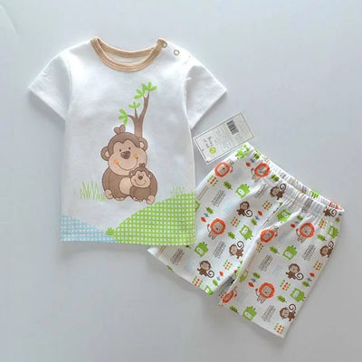 Baby boys sets infant short sleeve boys clothes Baby Clothing kids body suit T Shirt + Pants Clothes sets