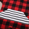2Pcs/Set Newborn Baby Summer Short Sleeve Red Plaids Clothes Romper Jumpsuit Headband Sun-suit Set Outfits