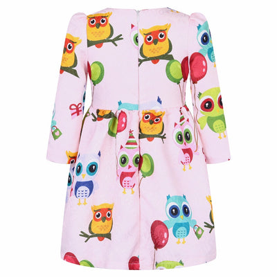 Princess Dress Girls Clothes Girls Dresses Long Sleeve Children Dress Kids Clothes Rose Flower Girls Christmas Dress