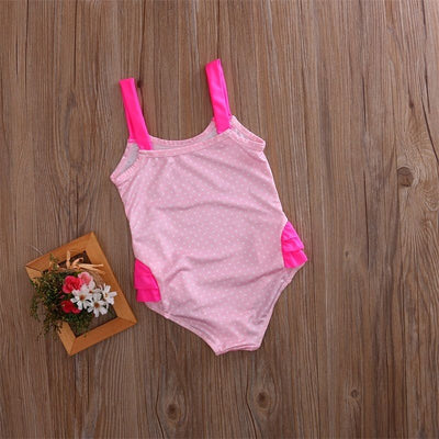 3 Color Kids Baby Girls swan Swimsuit Swimwear Bathing One-Piece Swimming Clothes