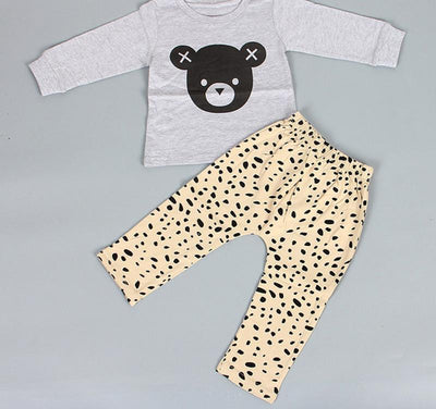 Baby Boy Clothes Set Infant Girls Cartoon Long-sleeved T-shirt + Pants Toddler Baby Girl Clothing