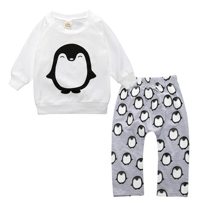 Baby Boy Clothing Baby Rompers Spring Newborn Baby Clothes Toddler Baby Girls Clothing Kids T-shirt+Pants