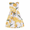 Princess Dress Toddler Girls Dresses Robe Tulip Flower Print Children Dress Kids Clothing