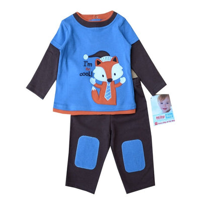Winter Baby Boy Girl Clothing Set 2pcs T-shirt+Pants Next Suit Cotton Long Sleeve Newborn Girls Clothes Toddler Costume