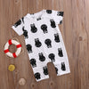 born Baby Infant Boy Girl Romper Short Sleeve Rabbit Ears Jumpsuit Outfit Clothes