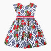 Girls Cotton Dress with Sashes Summer Dress Princess Costumes Strawberries Print Robe Kids Clothes