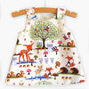Baby Girl Dress Cute Cartoon Animal Dear Clothing Set Red Color Dots Shorts Sleeveless Casual Dress+Shorts+Headband