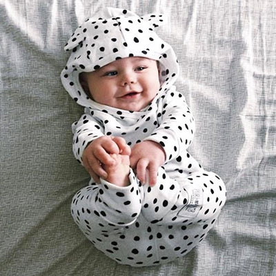 Baby Clothing Sets Autumn Newborn Baby Boys Girls Dot Cute Hooded Tops Pants Legging Outfits Set Clothes