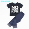 Kids boys infant clothes baby clothing sets boy Cotton little monsters short sleeve baby