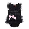 Kids Baby Girls Clothes Lace Tulle Ruffles Bow Cotton Romper Jumpsuit Outfits