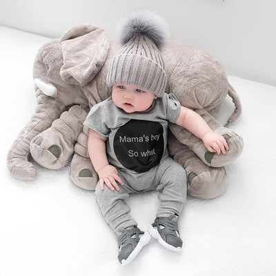 Baby clothing baby boy clothes baby girl Mama's Boy Short  sleeve baby Romper climbing clothes