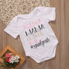 Summer born Infant Baby Girl Boy Letter Printed Romper NANA MAMA Jumpsuit Clothes Outfits 0-18M