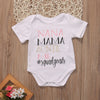 Summer Newborn Infant Baby Girl Boy Letter Printed Romper NANA MAMA Jumpsuit Clothes Outfits 0-18M
