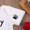 Clothing Set for born Kids Baby Clothes Cotton Letter Short Sleeve Romper Jumpsuit Outfits