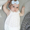 borns White Lace Baby Rompers Summer Infant Baby Girls Clothes Toddler Kids Jumpsuit Sun suit Outfits