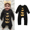 born Baby Girls Boys Long Sleeve Crown Print Romper Jumpsuit Clothes fashion baby boys clothes newborn