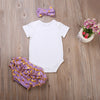 3pcs/Set Baby Clothing Set born Toddler Infant Baby Girls Clothes Romper+ Multiple layers Briefs +Headband Outfits Set