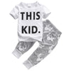 Kids clothing summer Baby Clothing Sets suits Short Sleeve T-shirt Deer Pants Outfits