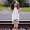 Summer Cute Kids Baby Girl Dress Lace Floral Tassel Lace Party Dress One-piece Sundress 1-6Y