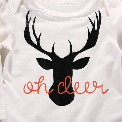 Baby boy clothing Newborn Baby Boy Girl Deer Romper Pants Leggings Hat Outfits