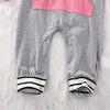 Newborn Baby Girl Boy Striped Patchwork Romper Long Sleeve Jumpsuit Outfits Sun suit Clothes