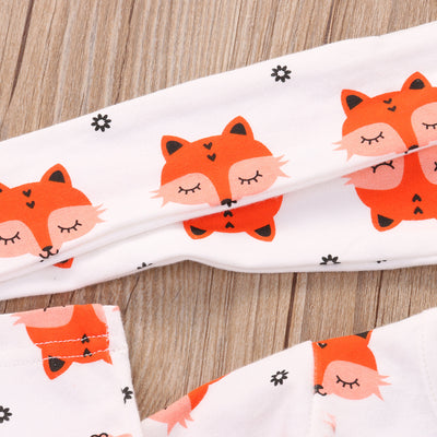2PCS Baby Girl Clothing Newborn Baby Girls Pajamas Cotton Dress Headband Outfit Cute Sets Clothes
