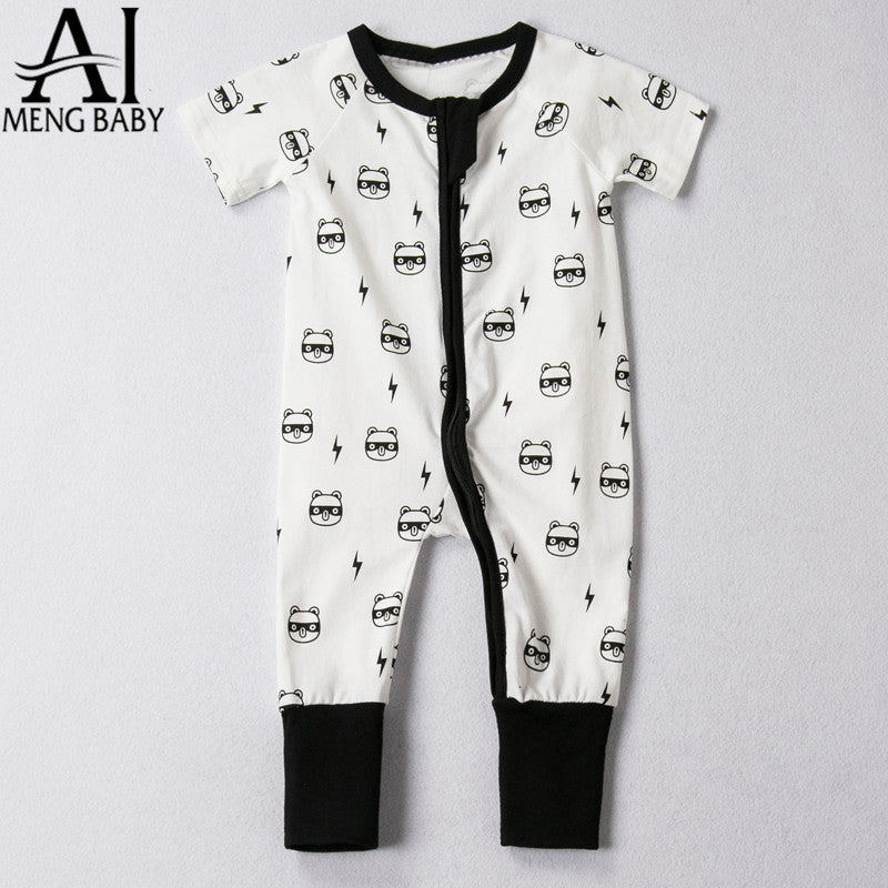 2a90eb4a0 Baby Newborn Baby Rompers Toddler Baby Outfits Little Boys Girls ...