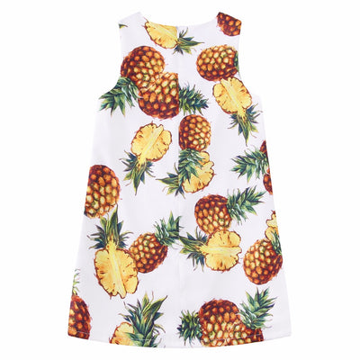Girls Summer Dresses with Pineapple Print Toddler Dress Children Princess Costume Robe Kids Clothes