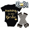 Newborn baby girls clothing sets Baby Girls Christmas New Clothes Romper+Leg Warmer +Headband Outfit