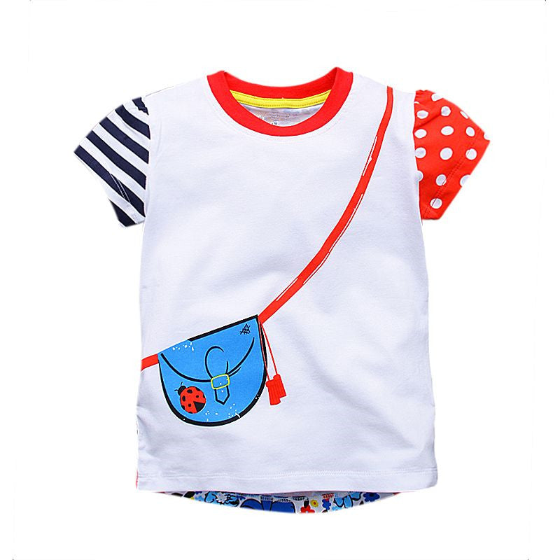 7512376418b Girl t-shirt big Girls tees shirts children blouse t-shirts super quality  kids