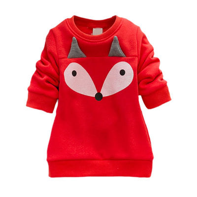 Autumn baby girl clothing suit warm kids clothes fox top pants long sleeve shirts lovely girls clothing thick 2pcs sets