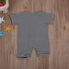 born Baby Boys Girl Clothing Striped Short Sleeve Romper Zipper Clothes Jumpsuit Outfit