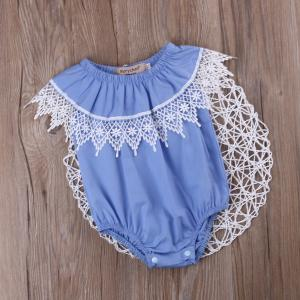 Cute Baby Girl Toddler Kids Sleeveless Romper Lace Jumpsuit Outfits Floral Sunsuit Clothes