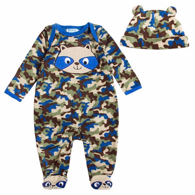 Animal Style Warm Hooded Baby Velour Rompers Winter Boys Girls Clothes Outfits Newborn Cotton Jumpsuit Clothing